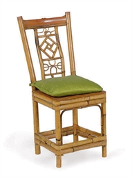 A CHINESE BAMBOO CHILD'S CHAIR