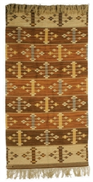 A WOVEN WOOL WALL-HANGING, 'LO