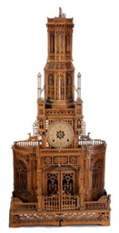 A GOTHIC REVIVAL FRUITWOOD CLO