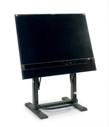 AN EBONIZED DRAFTING TABLE,