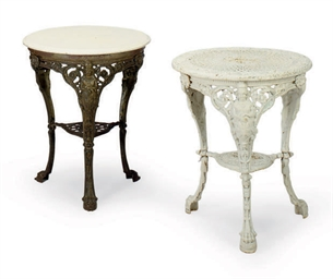 TWO VICTORIAN CAST-IRON TABLES