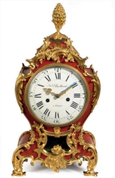 A LOUIS XV ORMOLU-MOUNTED RED-