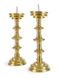 A PAIR OF CONTINENTAL BRASS PR