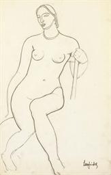 Un nu de femme assise sur une