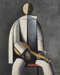 Pierrot avec une mandoline