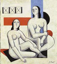 Les deux baigneuses (Hommage à Fernand Léger)