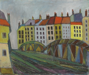 Houses by a Bridge