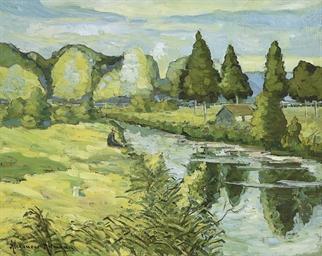 Pêcheur au bord du canal