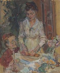 Rose preparant les pâtes