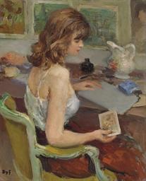 Jeune femme à l'estampe