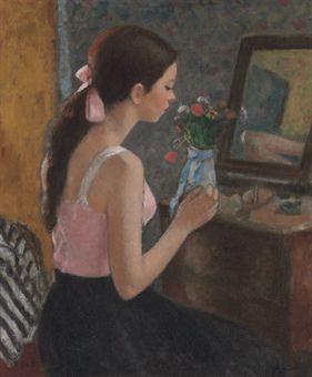 Francois gall 1912 1987 marie lize aux cheveux longs for Le miroir aux espions