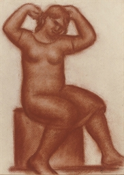 A seated women