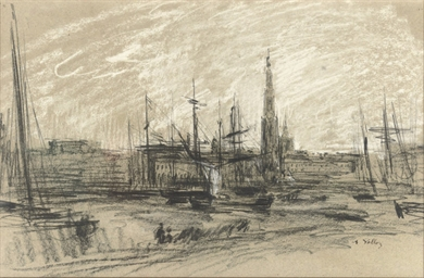 The harbour of Antwerp