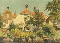 Huisjes te Rijswijk: houses along a canal