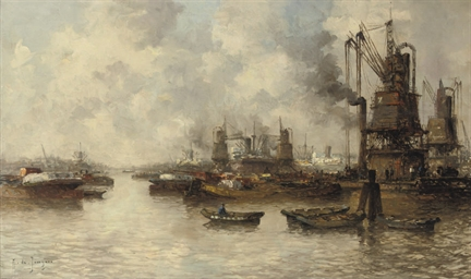 View of the harbour, Rotterdam
