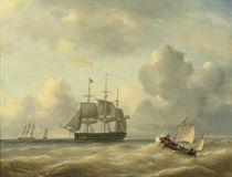 A three-master at sea