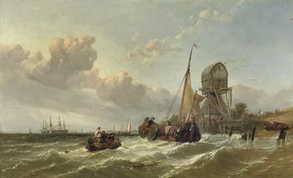 A tender approaching a fleet o