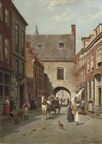 A busy day near the Gevangenpoort, The Hague
