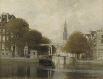 A view of the Groenburgwal, Am