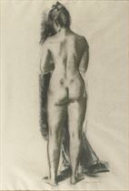 A standing nude seen from behind