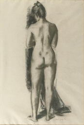 A standing nude seen from behi