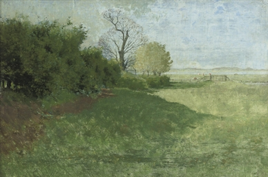 Trees in a landscape, Hoenwaar