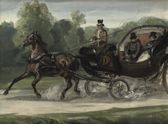 Riding in an open carriage