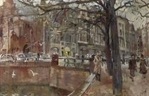 A busy day at De Plaats, with the Gevangenpoort on the left, The Hague