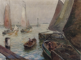 Sailing boats in the harbour o