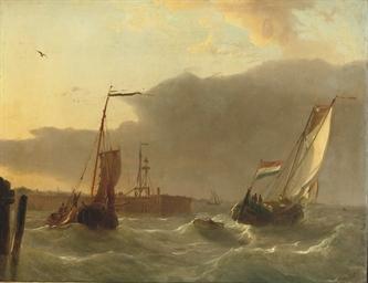 Boats near a pier