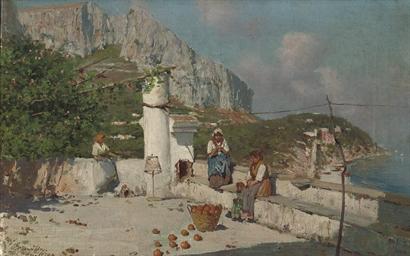 Woman having a rest, Capri