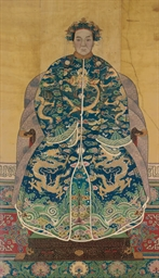 A CHINESE ANCESTOR PAINTING OF