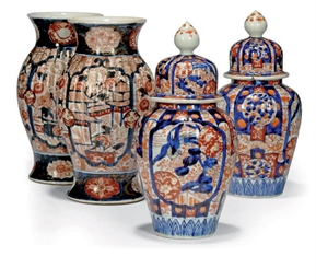 TWO PAIRS OF JAPANESE IMARI VA