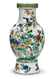 A CHINESE FAMILLE VERTE VASE