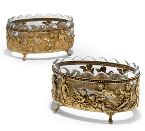 A PAIR OF GERMAN SILVER-GILT D