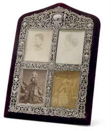 A VICTORIAN SILVER-MOUNTED PHO