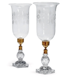A PAIR OF REGENCY CUT AND MOUL