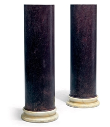 A PAIR OF FAUX-PORPHYRY COMPOS