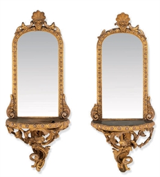 A PAIR OF MID-VICTORIAN GILT C