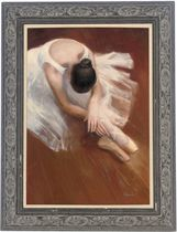 Stretching ballerina