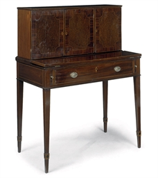 A LATE GEORGE III MAHOGANY, AM