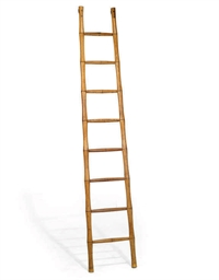AN ASH LIBRARY LADDER