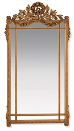 A FRENCH CARVED GILTWOOD MARGI