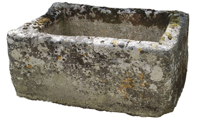 A FRENCH STONE TROUGH