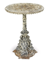 A VICTORIAN CAST-IRON TABLE