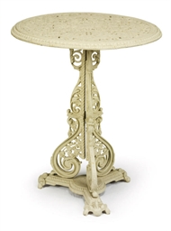 A PAINTED CAST-IRON TABLE