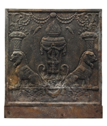 AN ENGLISH CAST-IRON FIREBACK