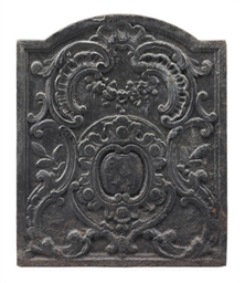 A FRENCH CAST-IRON FIREBACK
