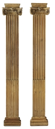 A PAIR OF GEORGE III PINE PILA