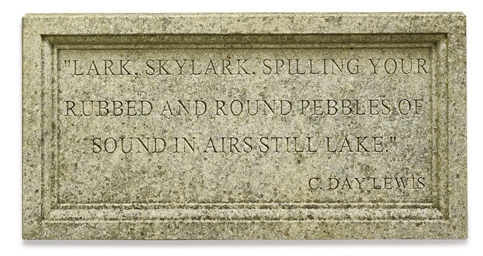 A LIMESTONE POETRY PLAQUE